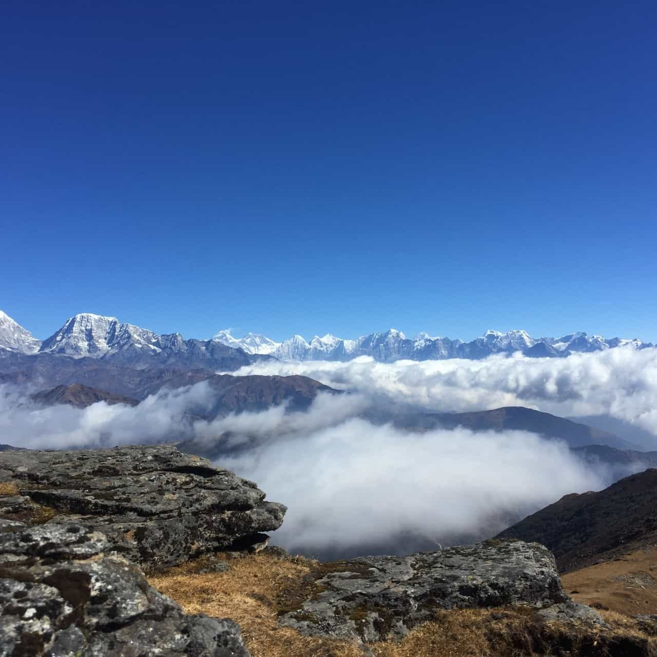 himalayan journey, panorama view from pikey peak