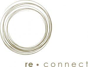 logo von re.connect, auszeiten in der bergwelt der schweiz und nepals